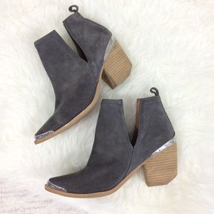 Jeffrey Campbell Suede Cromwell Ankle Booties 9